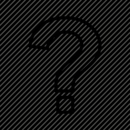 faq, question, question mark icon