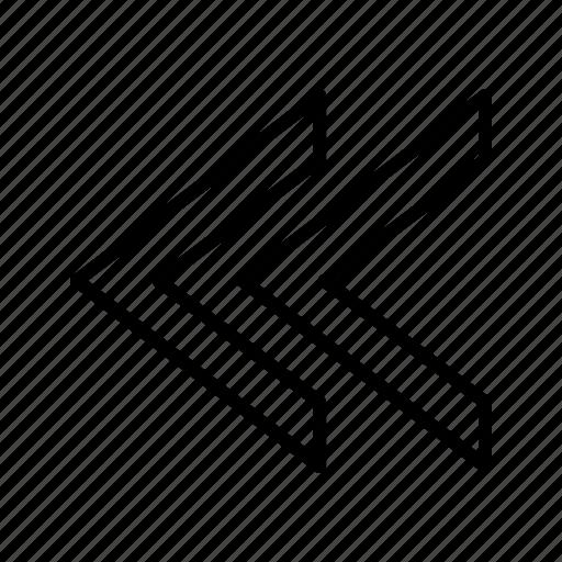 prev, previous, rewind icon