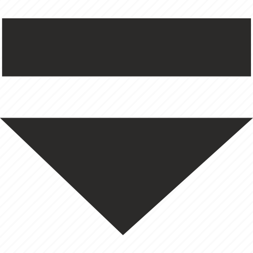 arrow, bottom, operation, program icon