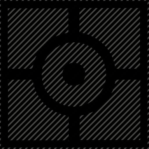 cursor, dot, point, pointer, square icon