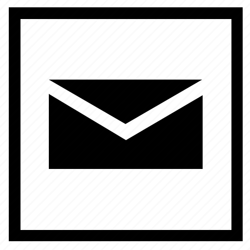 letter, mail, mailbox, message, square icon