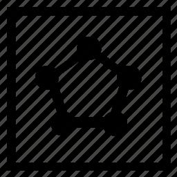 connection, dots, pentagon, scheme, structure icon