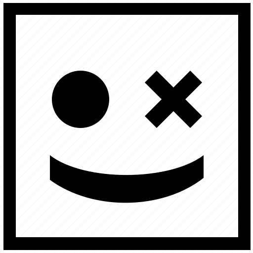 border, form, joke, smile, smiley, square icon