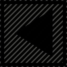 arrow, back, function, last, navigation, square icon