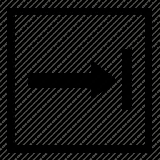 edit, square, tab, tabulation, text icon
