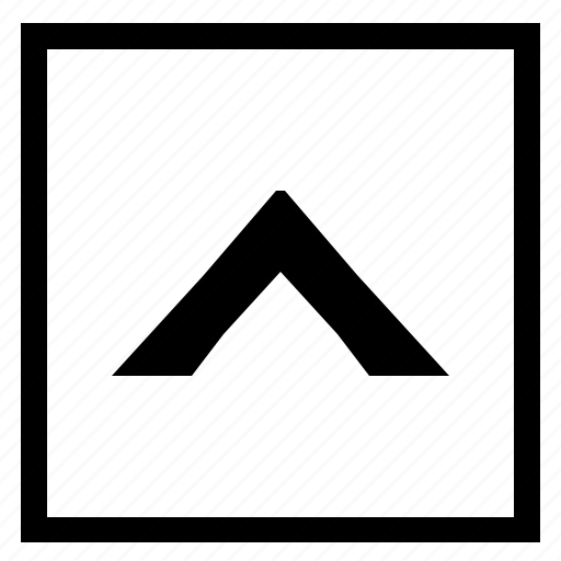 arrow, navigation, square, top, up icon