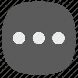 additional, function, horizontal, menu, ui icon