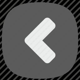 arrow, go, left icon