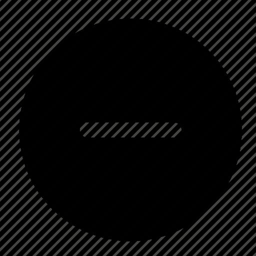 block, decrease, minus, remove, subtract icon