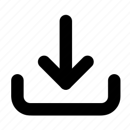 arrow, data, download, save, transfer icon