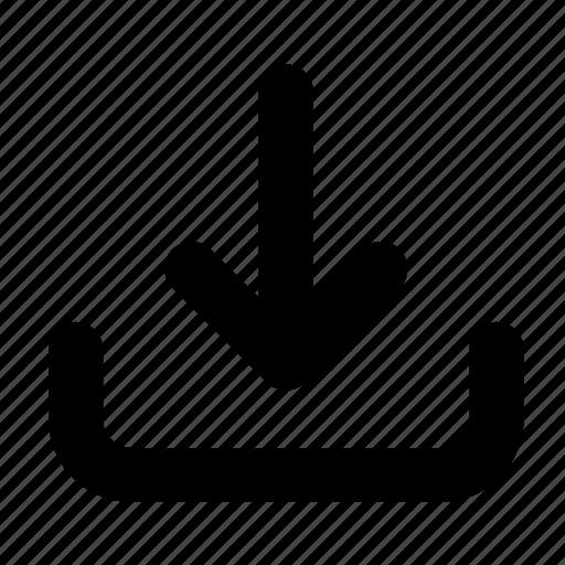 arrow, data, download, guardar, save, transfer icon