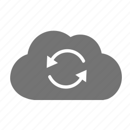 change, cloud, computing, convert, data, exchange, process, sync icon