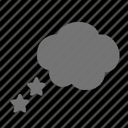 bubble, daydream, dream, dreaming, happy, night, sleep, stars icon