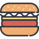 burger, fast food, food, gastronomy, hamburger, meal icon