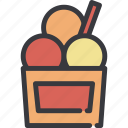 cup, dessert, ice, ice cream, icecream, sweet icon
