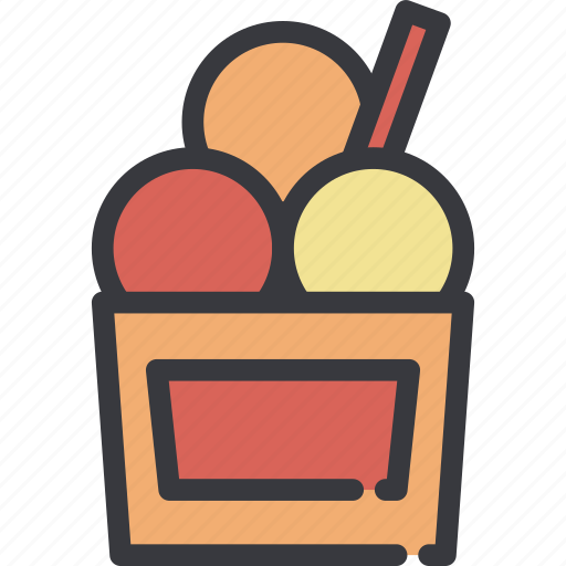 cup, dessert, ice, ice cream, icecream, sweet icon