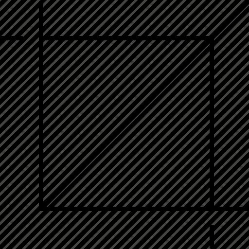 crop, design, diagram, graph icon