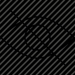 eye, retina, unvisible, view icon