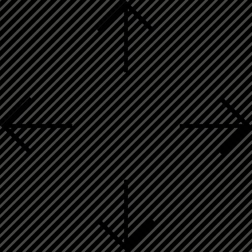 arrow, move, picture, zoom icon