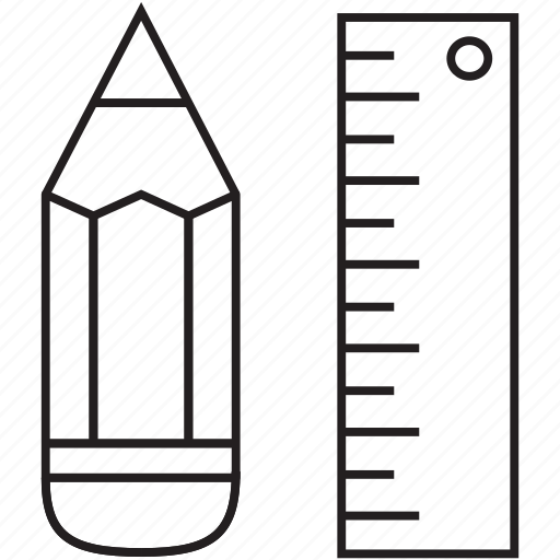 design, graphic, pen, pencil, ruler icon