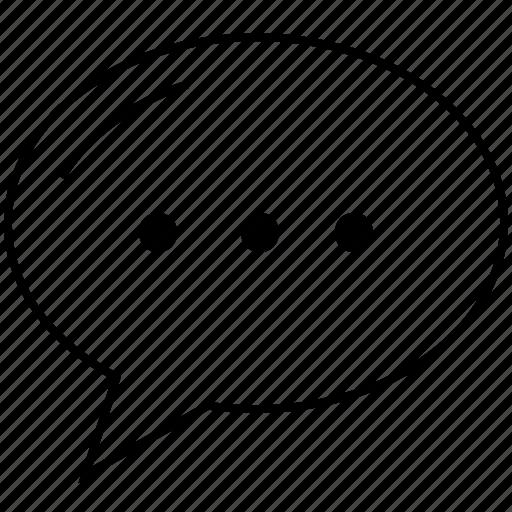 bubble, chat, commend, comment, communication, help, information, message, question, speech, support, talk icon