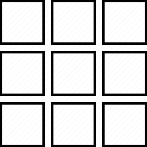 grid, web design icon