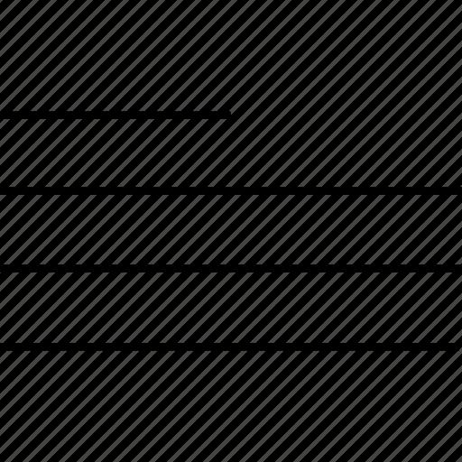 align, left, line, paragraph, text icon