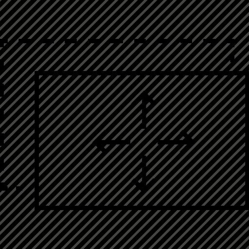 arrow, drag, drag and drop, drop, move, move page, page, web design icon