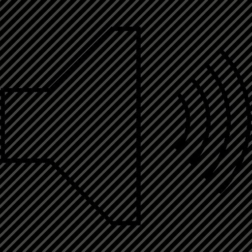 audio, media, music, play, player, sound, speaker, voice, volume icon
