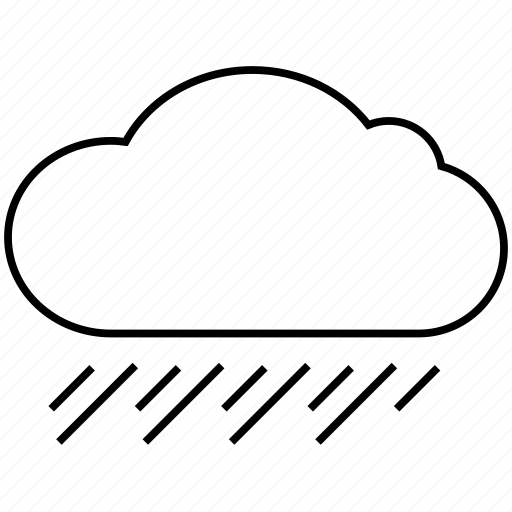 Rainy, weather, rain, cloudy, clouds, cloud icon