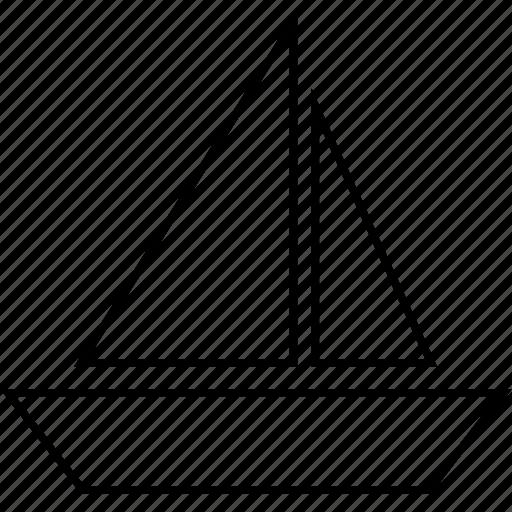 boat, nautical, sail, ship, travel, vehicle icon