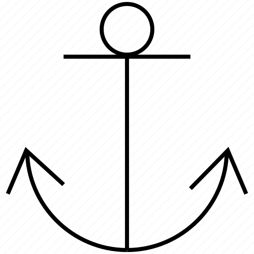 anchor, marine, nautical, sea, ship icon