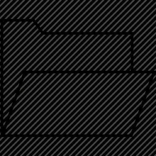 document, file, folder, open icon