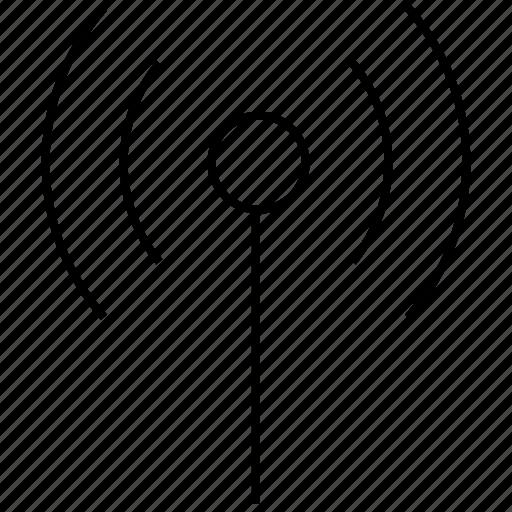 antenna, internet, network, radio, signal, wifi, wire, wireless icon