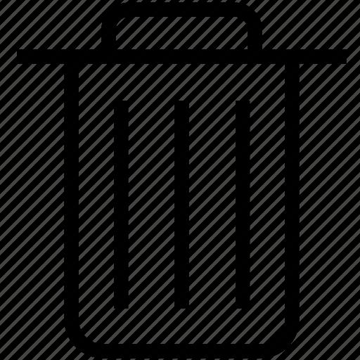 bin, delete, remove, trash, waste icon