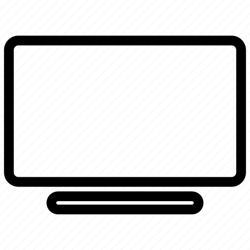 computer, display, monitor, television, tv icon