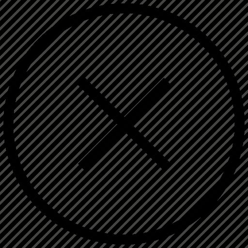 cancel, cross, delete, no, remove icon