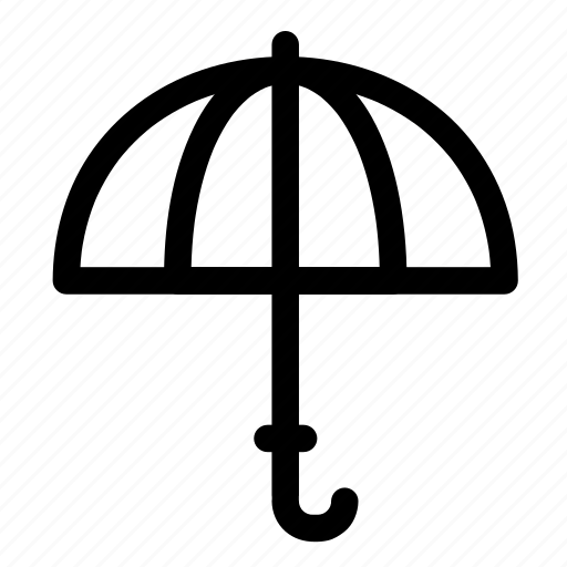 opened, protection, rain, shade, sun, umbrella icon