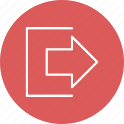 exit, log, out, zoom icon