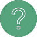 faq, help, question, sign icon