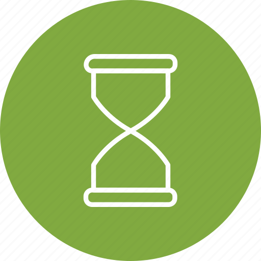 hourglass, sand, timer icon