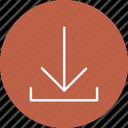 arrows, down, load icon