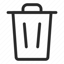 bin, can, delete, empty, minus, recycle, trash icon