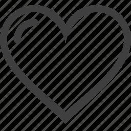 hearth, like, line icon