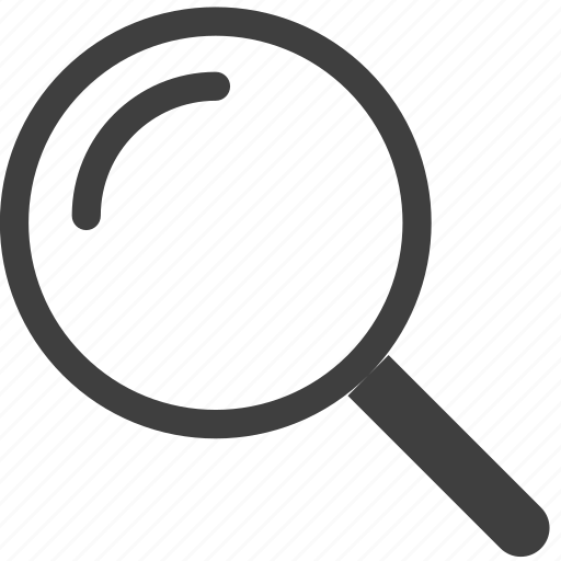 find  magnifier  magnifying glass  search  zoom iconWhite Magnifying Glass Icon Png