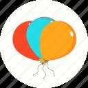 ballon, ballons, birthday, party icon icon