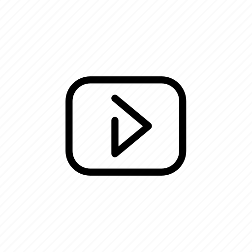 movie, play, video, vlog icon