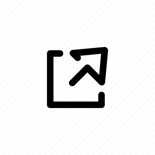extend, share, upload icon