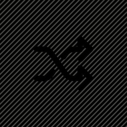 arrows, mix, pass, shuffle icon