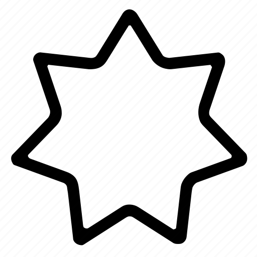 award, outline, rounded, shapes, sign, star, symbols icon